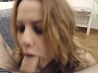 oraljessie broadcast giving a sloppy, deep blowjob during one of amazing cum shows
