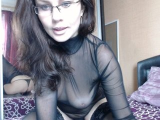 uchilka has a collection of slutty stockings that she loves putting on during her masturbation