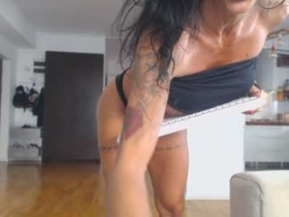 eves_bodyxxx takes off her sexy, skimpy and revealing bra to fuck her holes with massive toys
